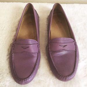 Peter Millar | Viola Purple Leather Loafer 8.5